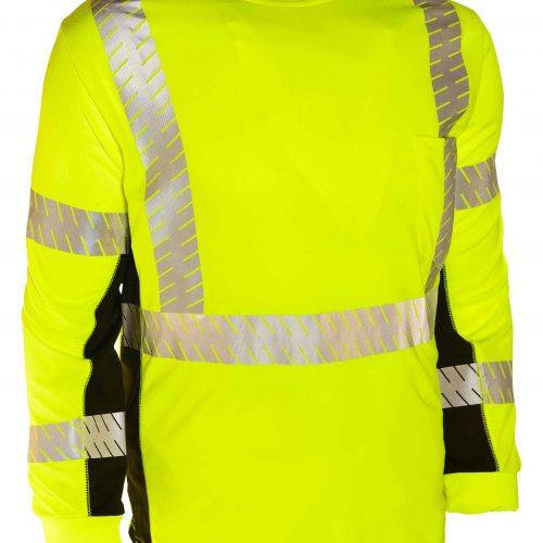 Orange 2X-Large ML Kishigo 9135 Polyester Black Series Class 3 Long Sleeve T-Shirt